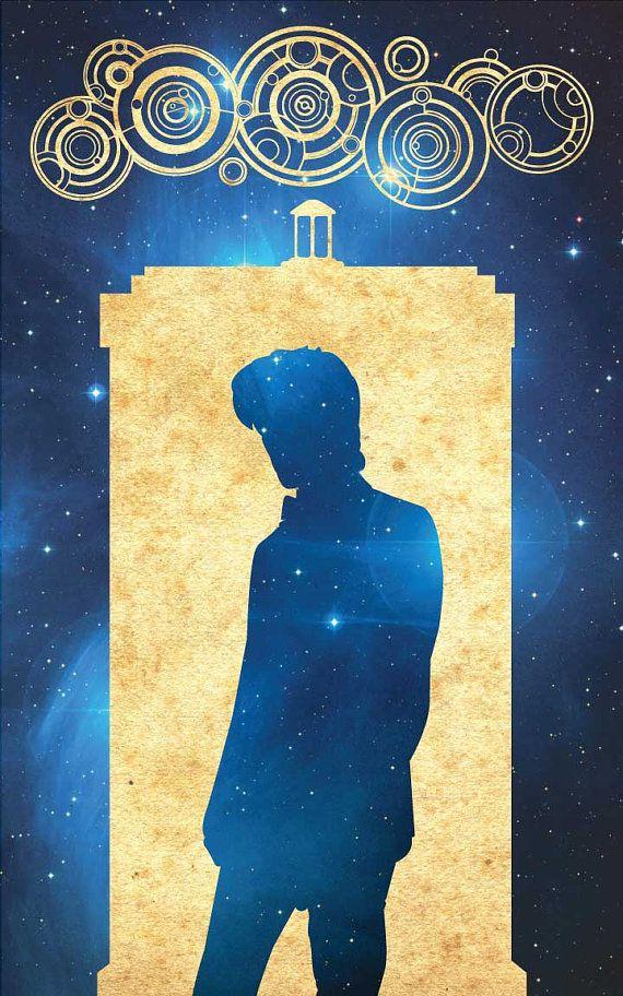 Dr Who Matt Smith Tardis Minimalist Poster Vintage by FADEGrafix