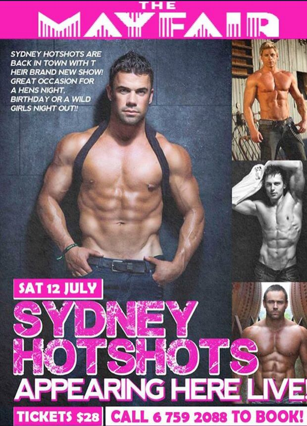 Get your girl's together and come and see the sexy, sensational Sydney Hotshots!