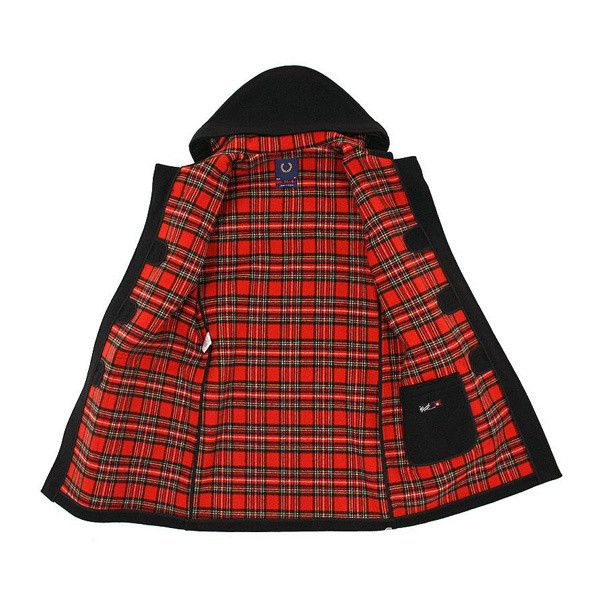 Fred Perry x Gloverall Duffle Coat Fall/Winter 2010 Highsnobiety ❤ liked on Polyvore featuring outerwear, coats, jackets, tops, red coat, fred perry, red duffle coat, fred perry coat and duffle coats