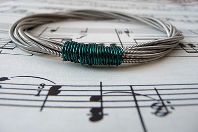 Pinterest is good for reminding you that your original ideas aren't original after all! I have a few of these bracelets made from my own used guitar strings!