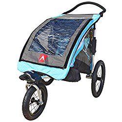 Allen Sports JTX-1 Trailer/Swivel Wheel Jogger, Blue