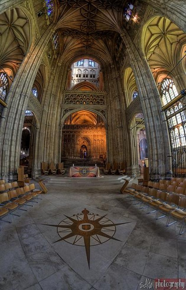 Canterbury Cathedral, Canterbury, Kent, England . Founded in 597 and completely rebuilt from 1070-77