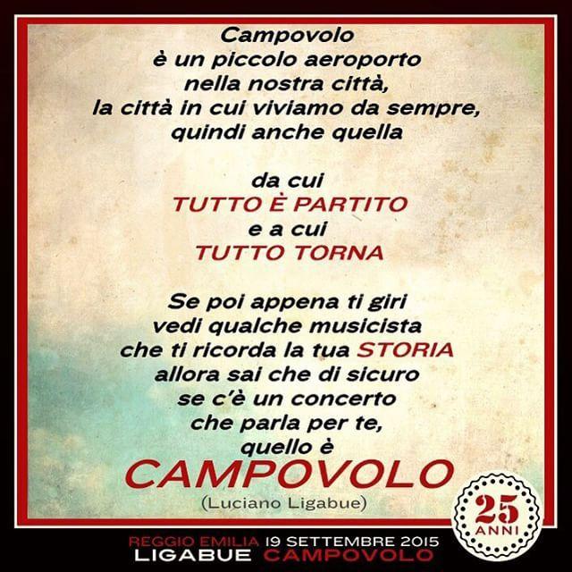 #LucianoLigabue Luciano Ligabue: #campovolo2015 #girodelmondo