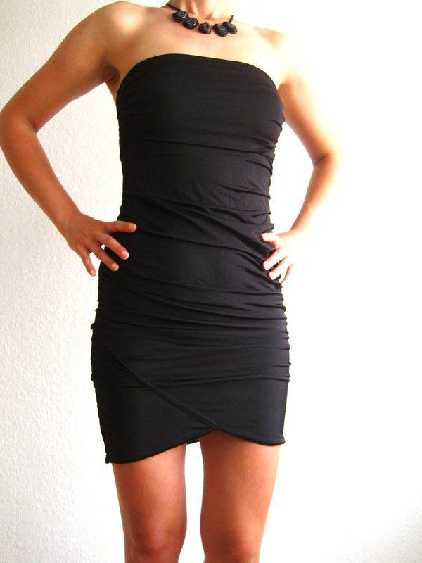 Satin Kleid in schwarz von Tally Weijl