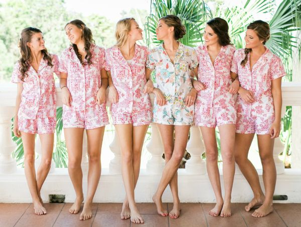 Bridesmaid PJs — cute idea for a bridal party gift!