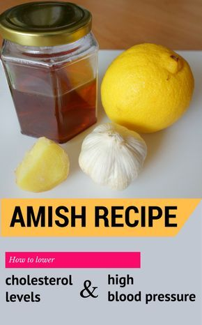 High cholesterol and high blood pressure are risk factors for cardiovascular disease. See how to lower them after an Amish recipe. Amish people always use natur