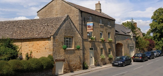 The Kingham Plough, Kingham, Oxfordshire.  This lovely stone inn feels English to a T.