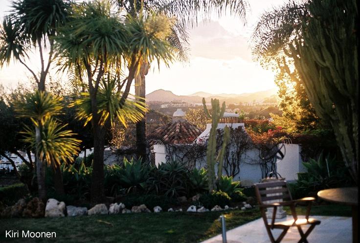 Sunset over Nueva Andalucia.  Film Photo by Kiri Moonen