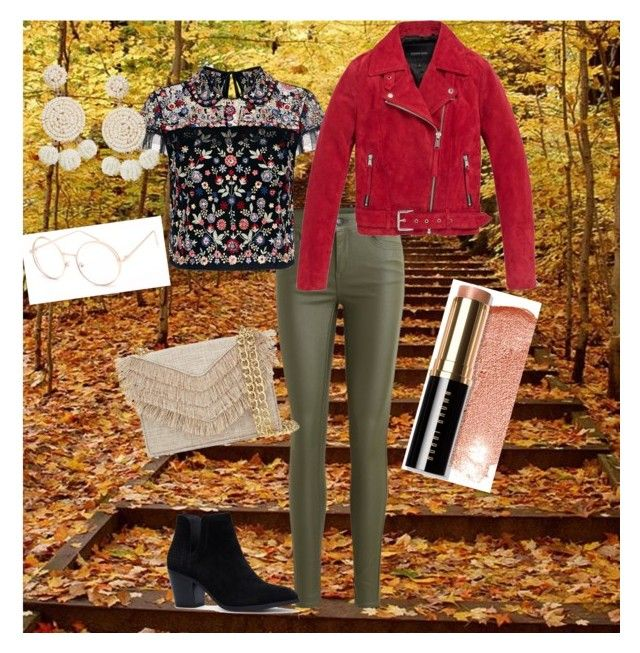 """""""First of Fall"""" by graciejohnstone ❤ liked on Polyvore featuring Object Collectors Item, Needle & Thread, Andrew Marc, Full Tilt, Cynthia Rowley, Humble Chic and Bobbi Brown Cosmetics"""