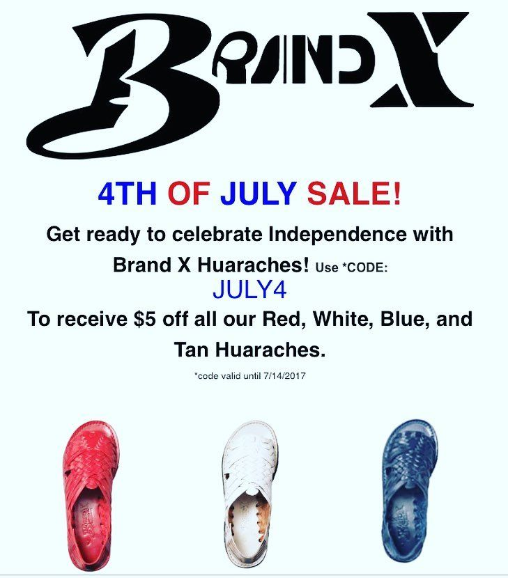 4TH OF JULY SALE! CODE: JULY4 To receive $5 off all our Red, White, Blue, and Tan Huaraches 🇺🇸 #sale #4thofjuly #brand_x_huaraches #huaraches #havefun #huarachesadventures #share