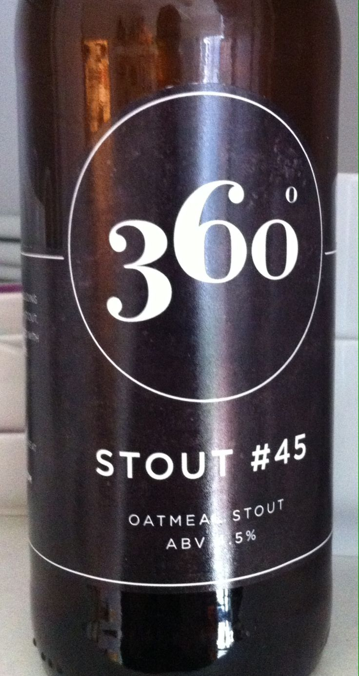 360 Degree Stout #45 Outmeal Stout ABV 4.5%. East Sussex. 8/10