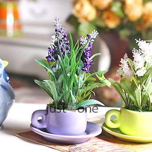 Home Wedding Bunch Bouquet Artificial Lavender Flower 1 PCS Purple Plastic&Silk