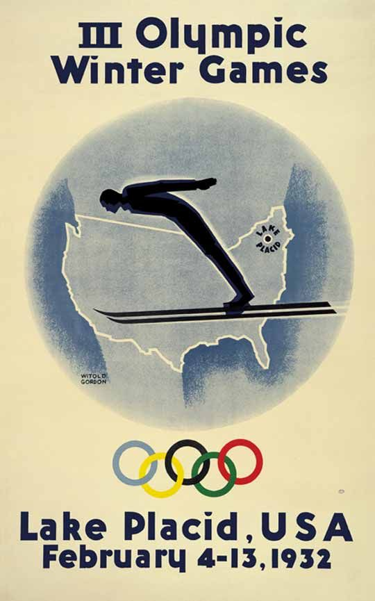 Vintage Olympic Winter Games Poster