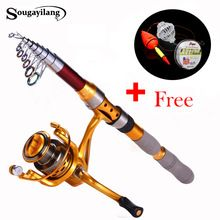 US $31.50 Sougayilang 1.8-3.0m Fishing Rod and Reel Olta Carbon Fiber Telescopic Spinning Rods Feeder Carp Fishing Rod with 14BB Reel Set. Aliexpress product