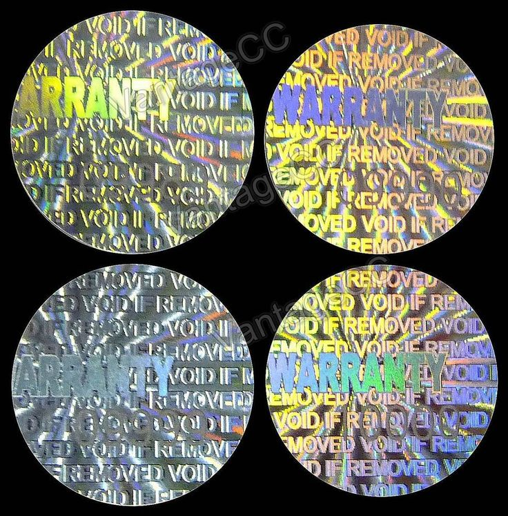 Small warranty hologram stickers numbered 12 5mm round labels tamper proof