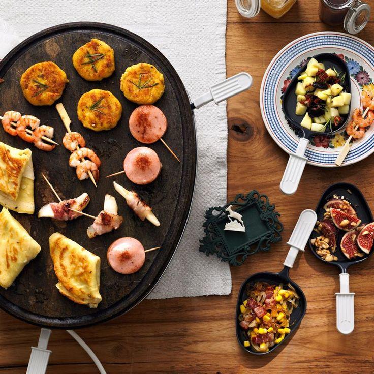 """Raclette: Rezepte für einen gemütlichen Abend - """"An langen Winterabenden gibt es kaum etwas Schöneres, als stundenlang mit Freunden und Familie zusammenzusitzen und in guter Gesellschaft ein leckeres Raclette zu genießen."""""""