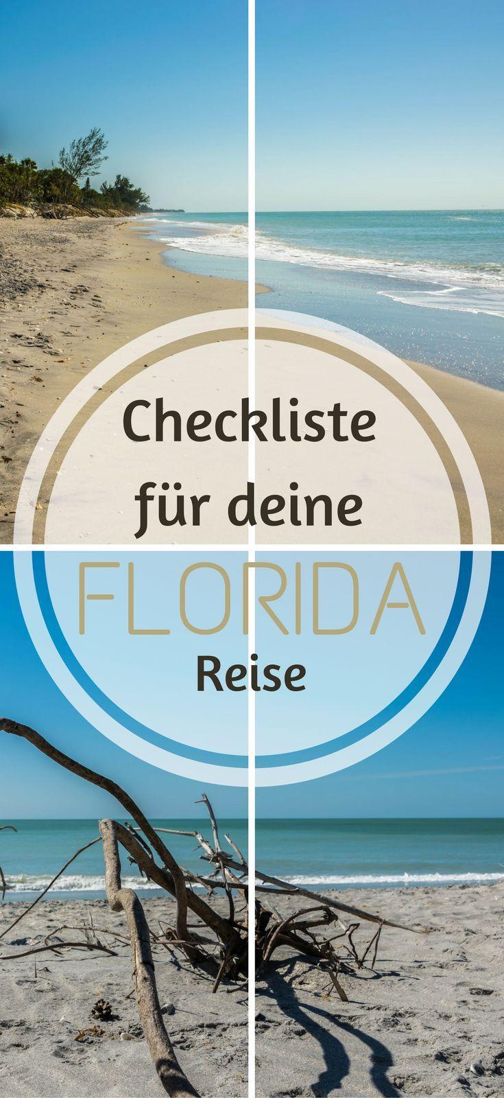 Checkliste für deine Florida Reise