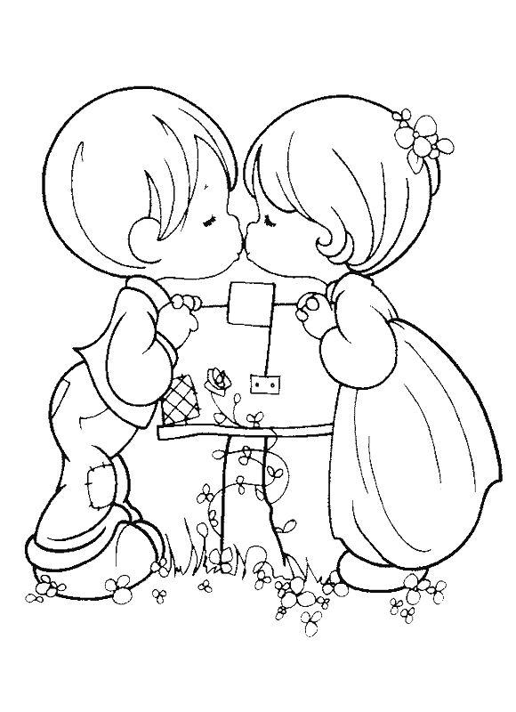 Beso de niños