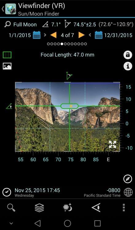 The Photographers Ephemeris (TPE) Versus PlanIt! for Photographers *Moon over Half Dome
