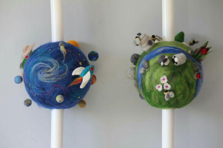 lumanari botez gemeni Terra si Cosmos