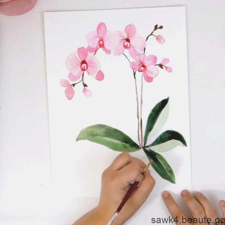 Comment Peindre Les Orchidees Aquarelles Tutoriel De Debutant