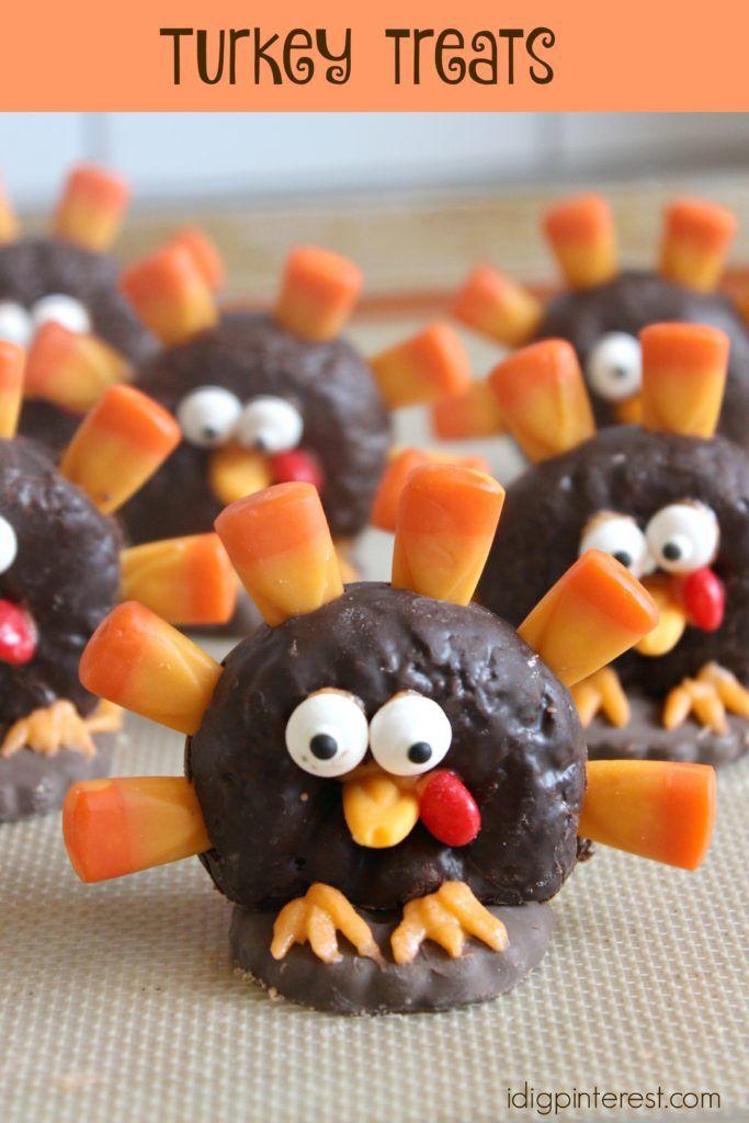 Featured on #CreateItThursday - Turkey Donut Treats