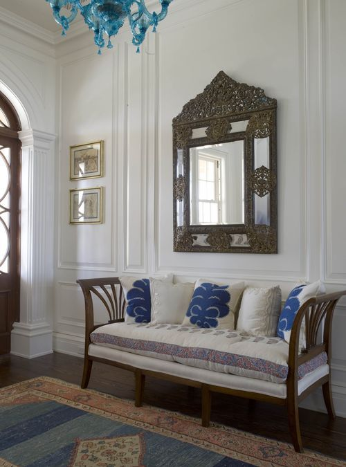 Designer Phoebe Howard--love the entry and bench