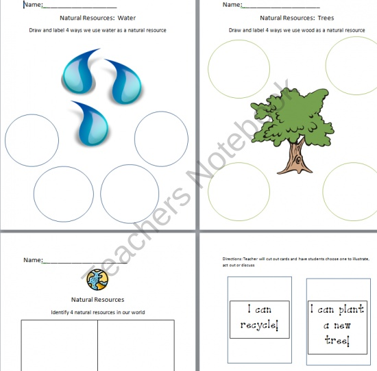 Printables Natural Resources Worksheet 1000 images about natural resources on pinterest the from little miss megan teachersnotebook com 5 pages worksheets