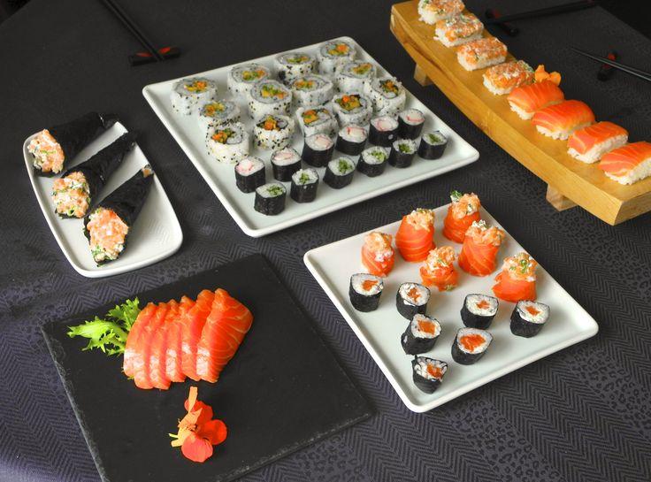 Rodízio Japonês caseiro (Sushi, Sashimi, Hussomaki, Uramaki de pepino, Salmão com cream cheese, Jow, Temaki de Salmão e Califórnia) (1)