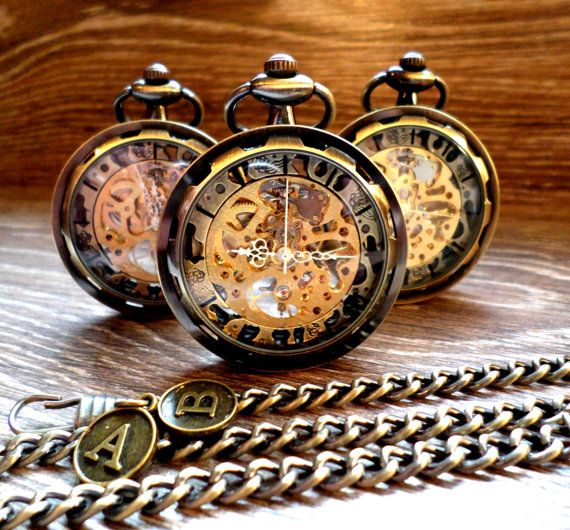 Personalized Steampunk Antique Bronze von PocketwatchEmporium