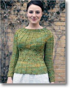 Love this ladies jumper. Would look great done in one of the ICE yarns. I think I would like it in Bamboo Wool Magic. Any of the colours would be great but I like the Turquoise. Its A$15.81 a pack of 4 balls. Thats only $3.95 a ball. Get this at http://lovehandmade.yarnshopping.com/bamboo-wool-magic-turquoise-camel-brown