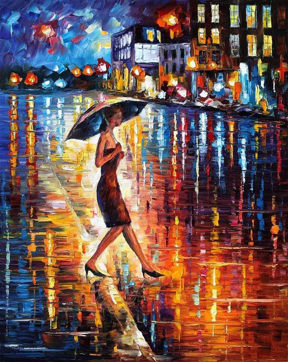 Late Return — PALETTE KNIFE Oil Painting On Canvas by AfremovArtStudio, $239.00
