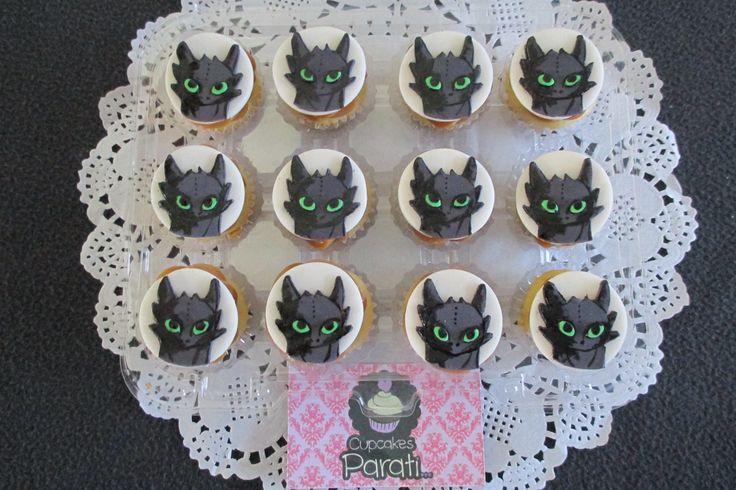 cupcakes entrenando a tu dragon
