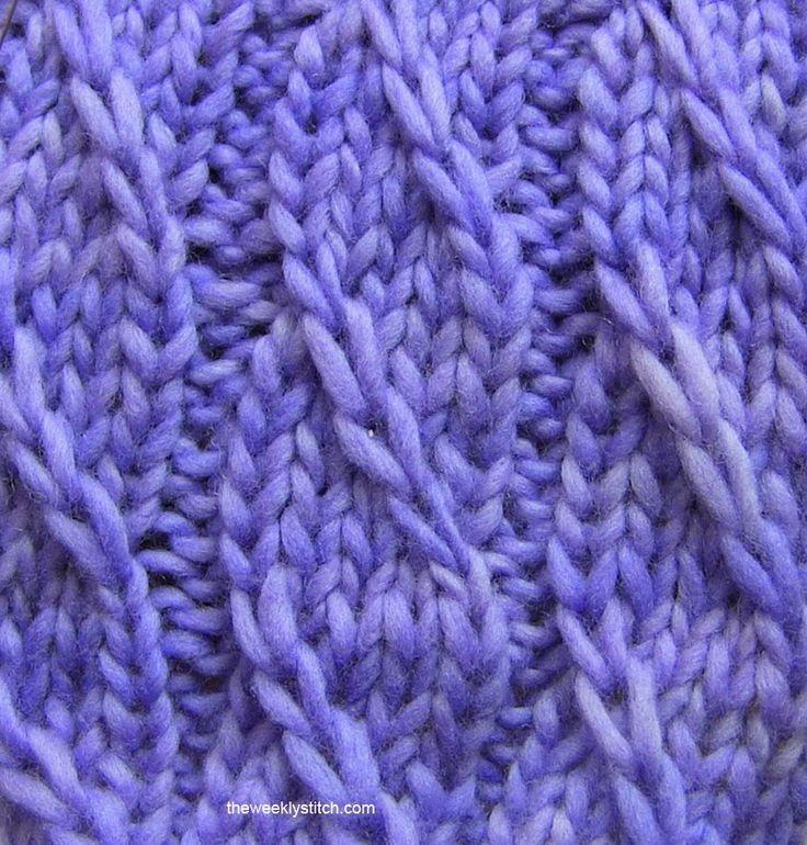 Twilled Stripe Stitch | The  Weekly  Stitch theweeklystitch.com