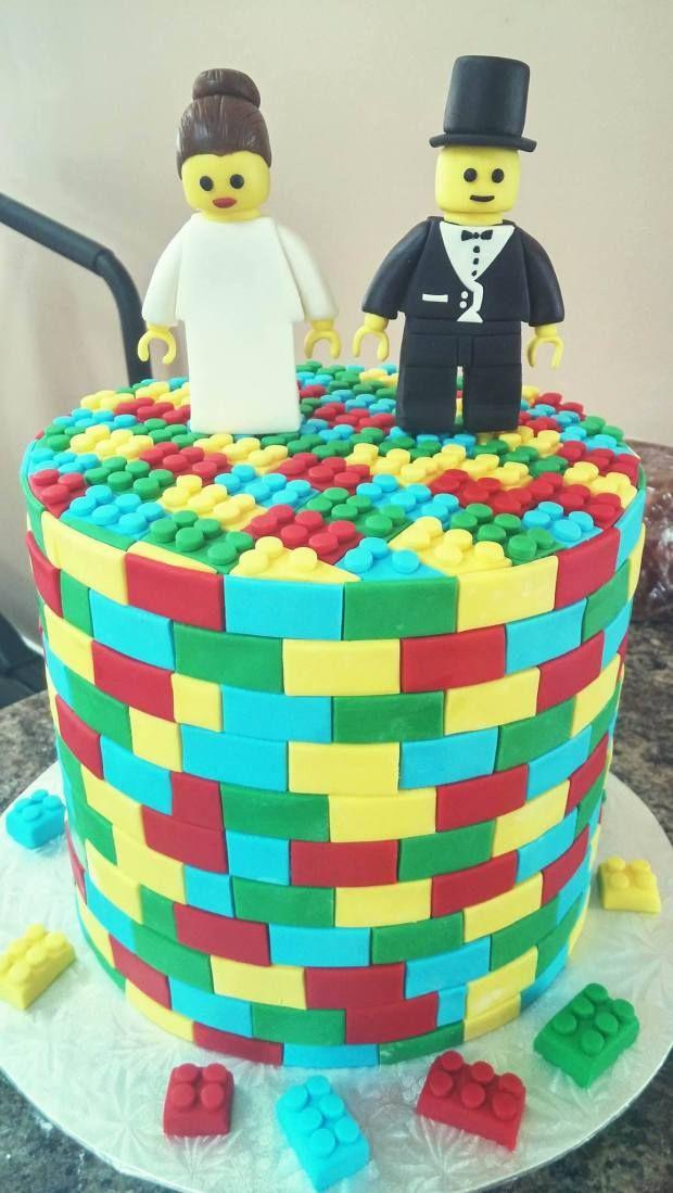 Lego Cake! Bride and Groom Cake Topper Tutorial