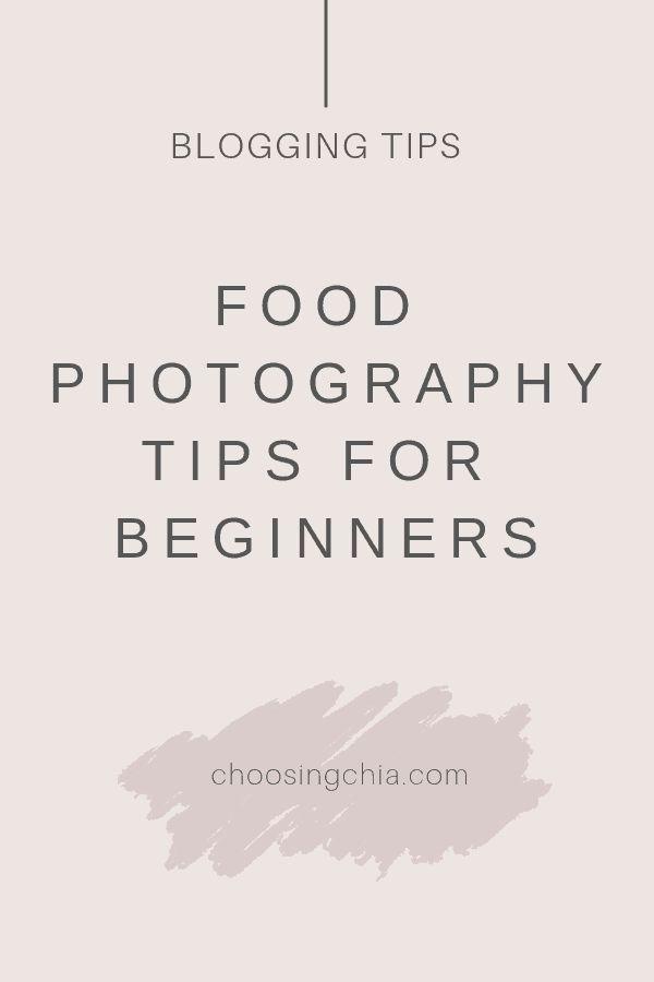 Conseils de photographie culinaire pour débutants