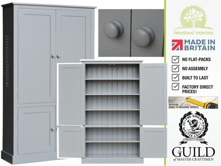 Contemporary 4 Door Painted Kitchen, Pantry, Hallway Storage Cupboard CUP100