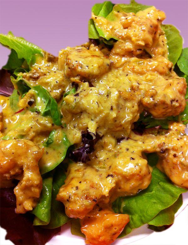 Basil Chicken in Coconut Curry Sauce #glutenfree #dairyfree