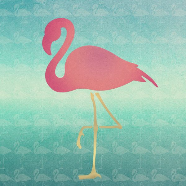 Flamingo Fancy Wall Art Stencil Birds Furniture And