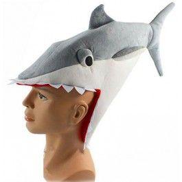 Shark Plush Hat Grey $24.99