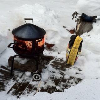 Enjoying barbeque!