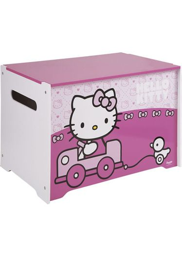 Hello Kitty Toy Chest : Hello kitty toy box kids bedrooms decorating ideas
