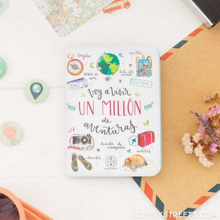 Funda para pasaporte Lovely Streets - Voy a vivir un millón de aventuras