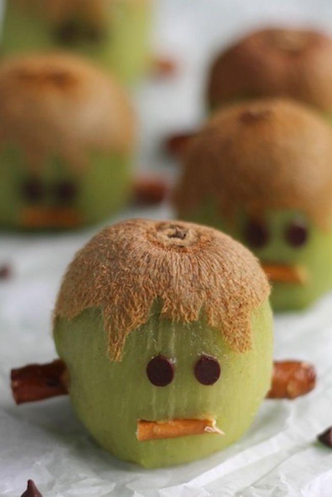 Frankenstein Kiwi - such a cute halloween treat