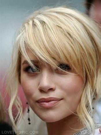 Bangs cute hair blonde girl pretty bangs hairstyle olsen twins