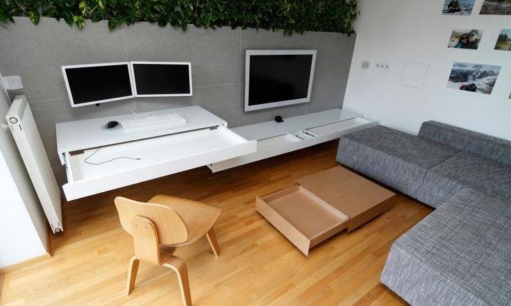 Wohnbereich, die kleinen slowakischen Wohnung verbessert mit LED Beleuchtung von vorgestellt Rudolf Lesňák