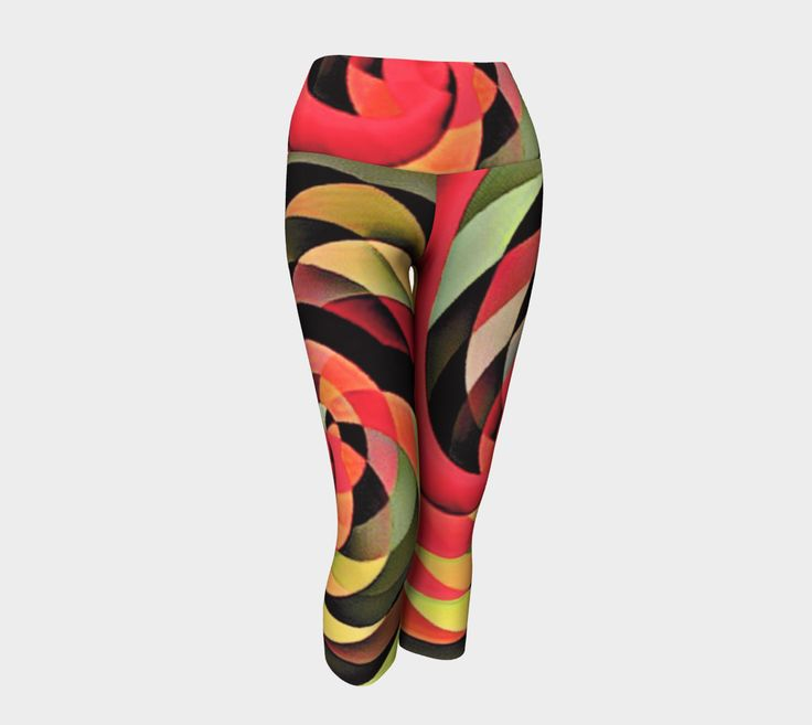 """Yoga+Capris+""""Limitless+-+Sexy+Abstract+Art+Yoga+Capris""""+by+Jeff+Scott+Fried"""