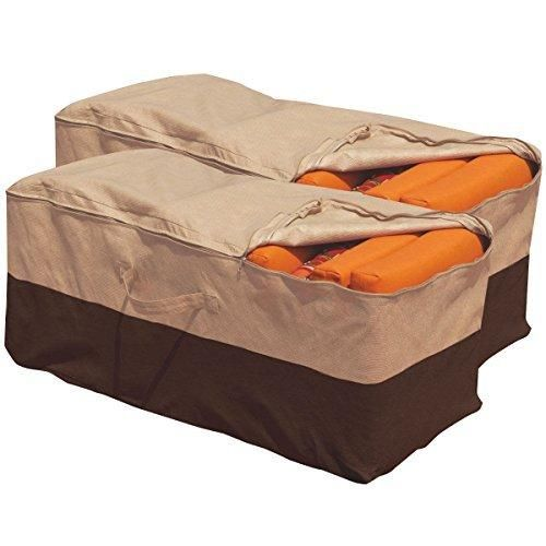 NEW 2PCS Outdoor Cushion Storage Bag Patio Furniture Chaise Organizer Protect Cover