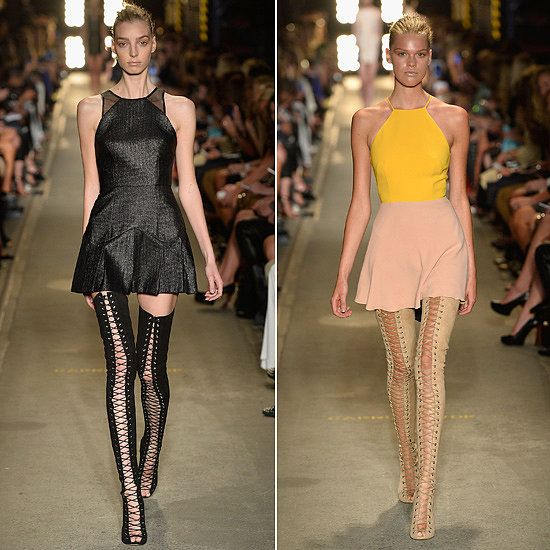alex perry mbfwa show thigh high lace up tony bianco