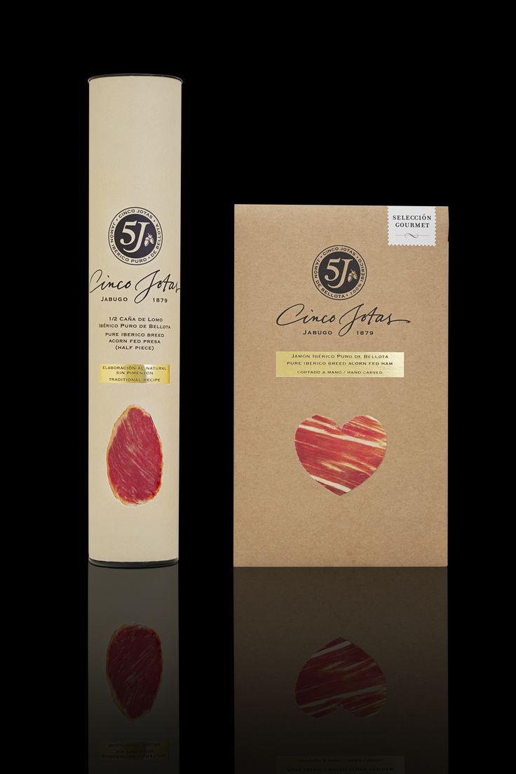 """Con la edición de """"San Valentín"""", Cinco Jotas celebra el Día de los Enamorados diseño de Morillas. Elegant meat #packaging PD"""